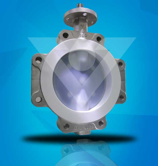 PTFE Lined Butterfly Valve With Stainless Steel Body Material