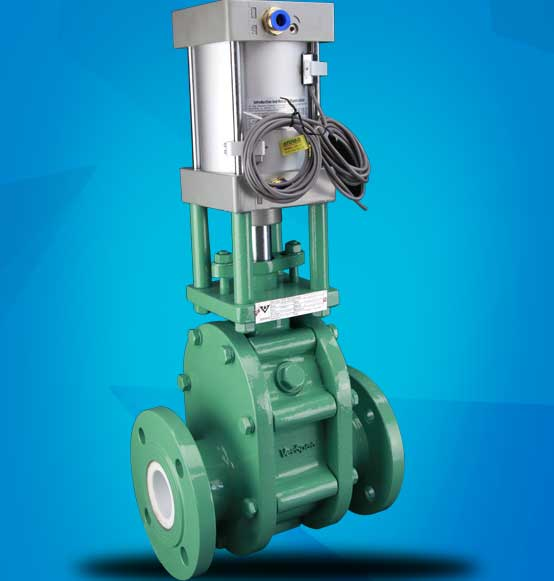 Pneumatic Actuator Ceramic Twin Disc Gate Valve