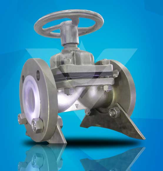 Stainless Steel PFA Lined Diaphragm Valve