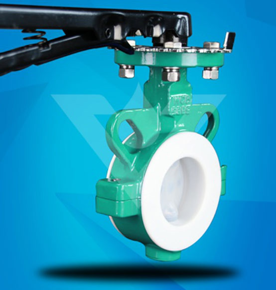 Wafer Type PFA Lined Butterfly Valve