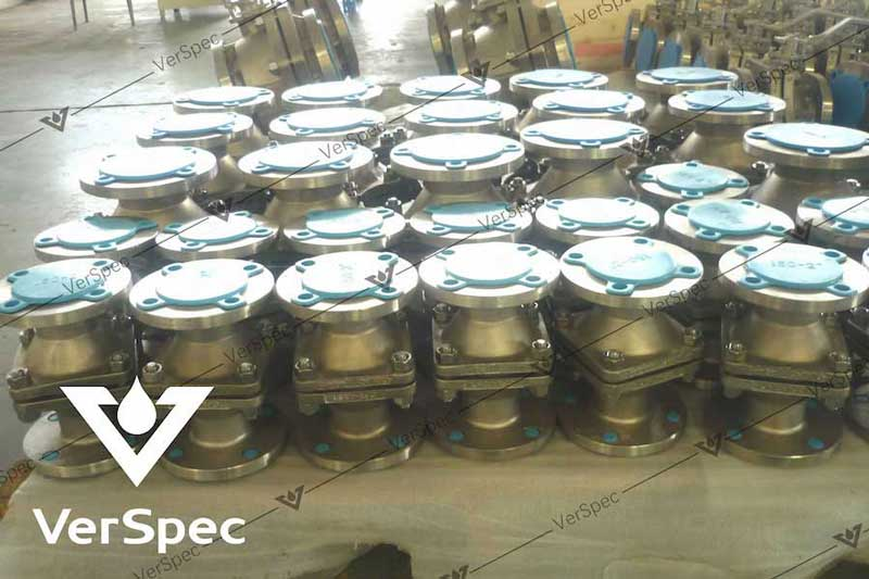 vertical carbon steel pfa lined ball type check valve