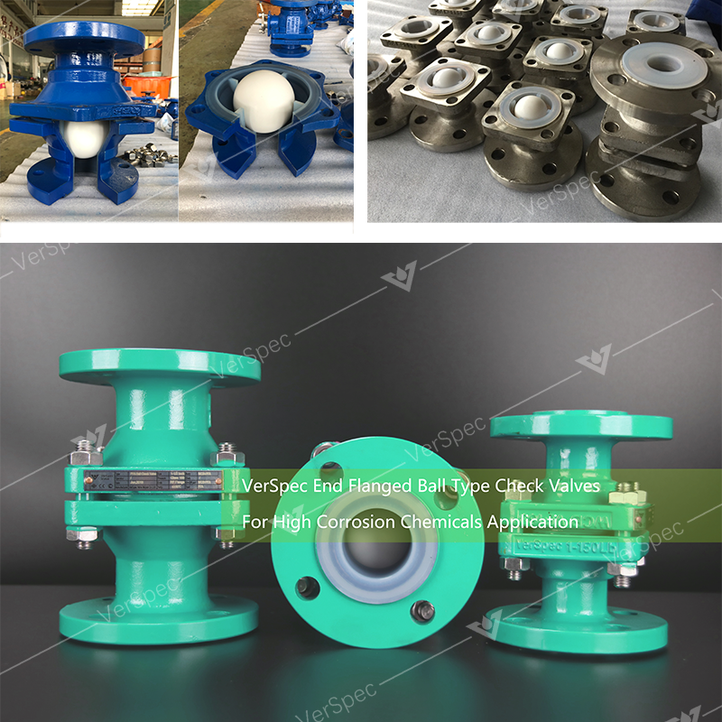 End Flanged PFA Lined Swing Check Valve